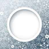 Winter round frame with snowflakes — Stock Vector