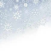 Winter stylish background with snowflakes — Stock Vector
