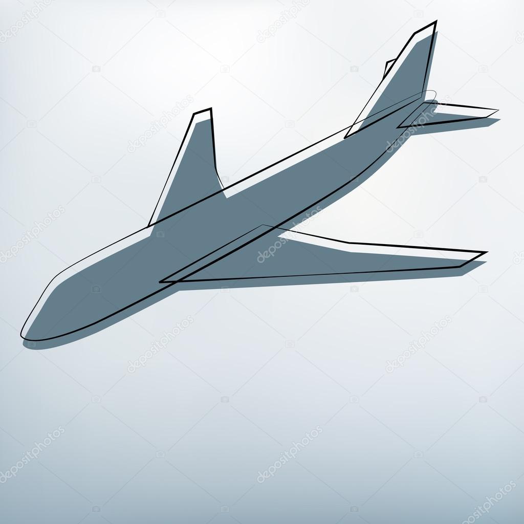 用飞机符号的背景