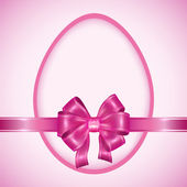 复活节彩蛋用粉红色的丝带 — 图库矢量图片