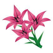 Kytici origami květina lilie nad bílá — Stock vektor