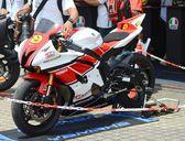 Yamaha R1 showing. — Stock Photo
