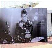 Billboard of nicky hayden showing during Moto GP.Sepang.Malaysia. — Stock Photo