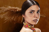 Hair in the ethnic style — Stock Photo
