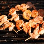 Korean style jumbo shrimp barbeque — Stock Photo #12705117