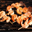 Stock Photo: Korestyle jumbo shrimp barbeque
