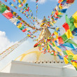 Colorful holy flags on Boudhanath temple stupa Kathmandu Nepal — Стоковая фотография