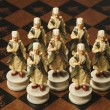 Stock Photo: Ottomsoldier chess pawn on chessboard