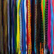 Colorful shoe laces to get up an article for sale — Stock Photo