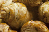 Delicious croissant continental french breakfast pastry — Stock Photo