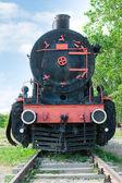 Vue de face façonné de la vieille locomotive à vapeur — Photo