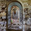 Ruin ramshackle arcades in row Edirne Turkey — Stock Photo