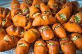 Delicious Turkish pogaca savory mashed patatoes pastry — Stock Photo