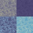 Collection of seamless patterns — Vettoriale Stock #12014234
