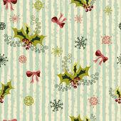 Winter holidays seamless pattern — Stock Vector
