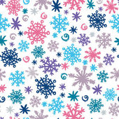 Hand printed snowflakes seamless pattern — Stock Vector