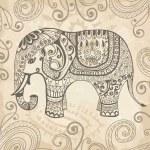 Stylized lacy elephant — Stock Vector #13896567