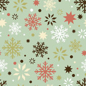 Retro snowflakes seamless pattern — Vector de stock