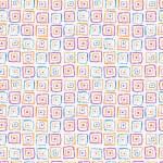 abstrakt handmålade texturerat seamless mönster — Stockvektor