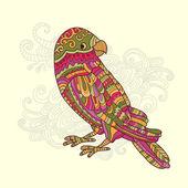 Cartoon motley tropical parrot — Stock Vector