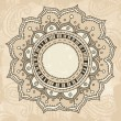 Mandala on vintage background — Stock Vector