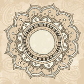 Mandala on vintage background — Stock Vector