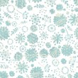Tender flowers seamless pattern - Stock Vector