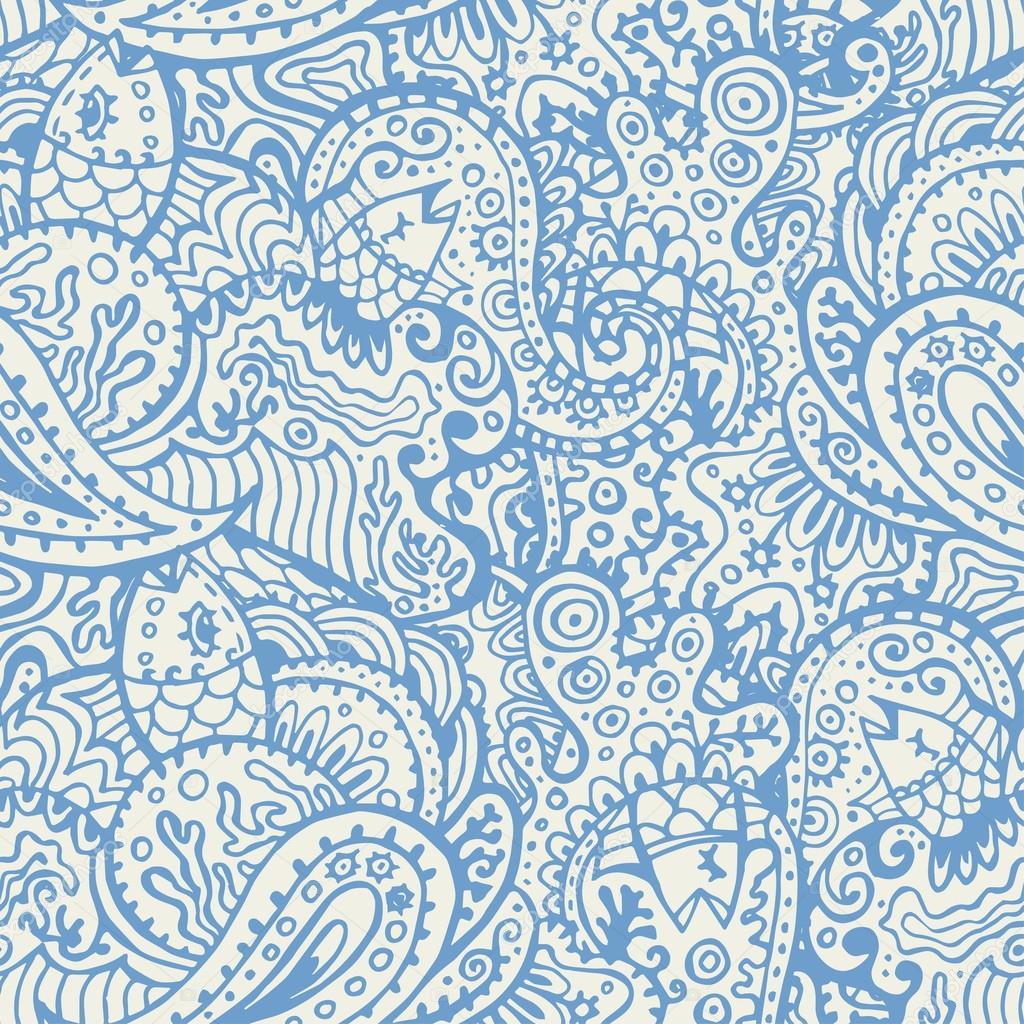 Beach pattern fabric