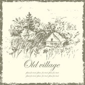 Hand drawn old village — Stock Vector