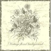 Vintage bouquet — Stock Vector