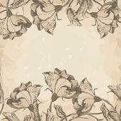 Retro floral border — Stock Vector