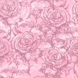 Tender rose seamless pattern — Stock Vector