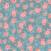 Small pretty roses seamless pattern — Stock Vector