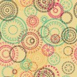 Lace circles seamless pattern — Vector de stock
