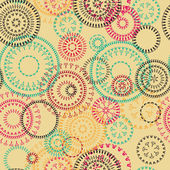 Lace circles seamless pattern — Vettoriale Stock