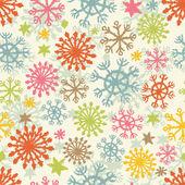Ręcznie rysowane płatki śniegu — Wektor stockowy