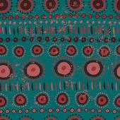 民族のシームレスなパターン — ストックベクタ