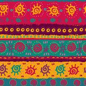Bright ethnic seamless pattern — Stock Vector