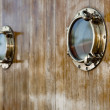 Two portholes of an old ship — Stock Photo