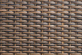 Rattan weave texture used on outdoor garden furniture — Stock Photo