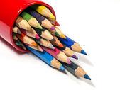 Lápis de cor sobre branco — Foto Stock