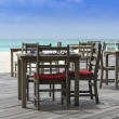 Restaurant on the beach with view over turquoise ocean — Stock Photo