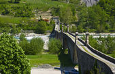 The Old Bridge of Bobbio — Stock Photo