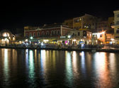 Evening View of the Chania city — Stock Photo