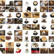 Coffee and Cappuccino Collage — Stock Photo