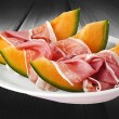 Stock Photo: Ham and melon