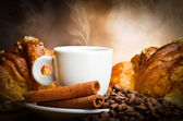 Coffee smoking — 图库照片