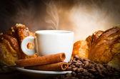 Fumar de café — Foto Stock