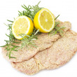 Schnitzel of veal — Stock Photo