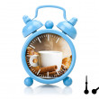 Stock Photo: Old alarm clock